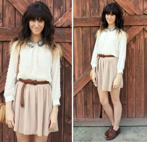 Vintage-Skirt-With-brown-Tiny-belt